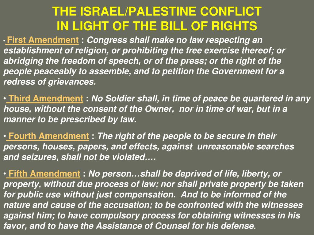 THE ISRAEL/PALESTINE CONFLICT