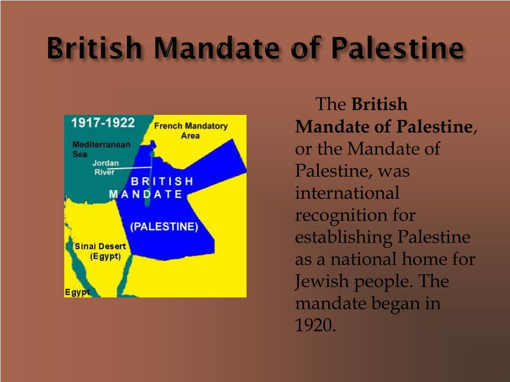 British Mandate of Palestine
