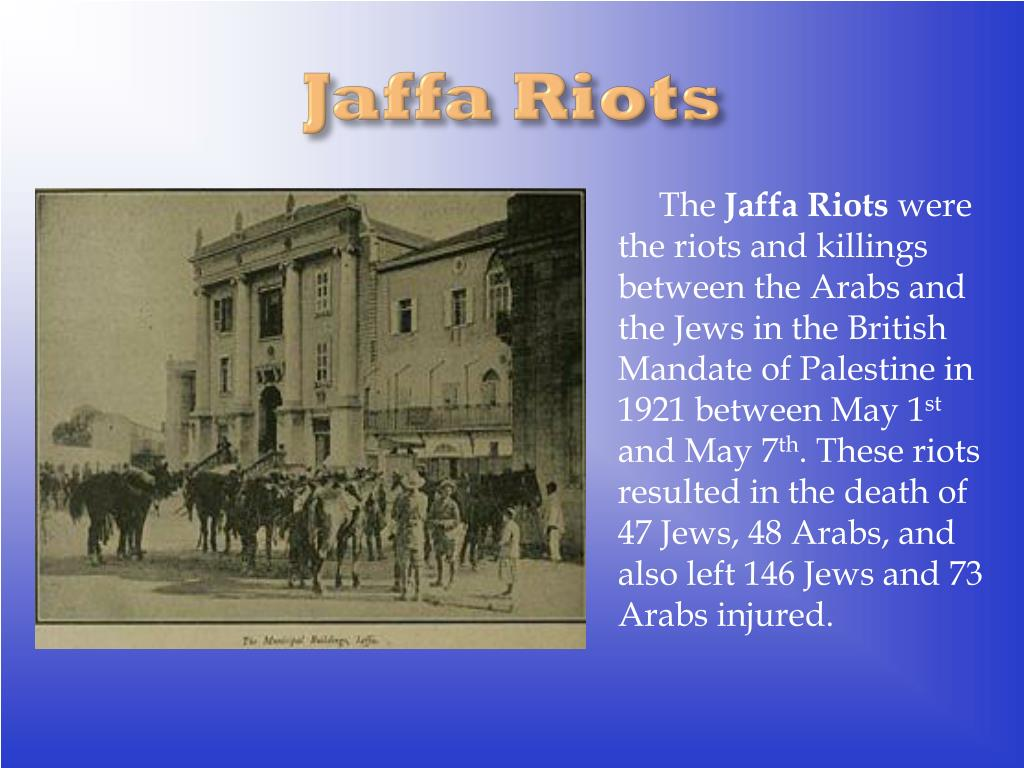 Jaffa Riots