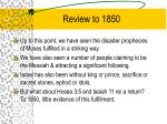 review to 1850
