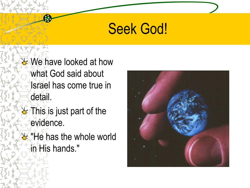 Seek God!