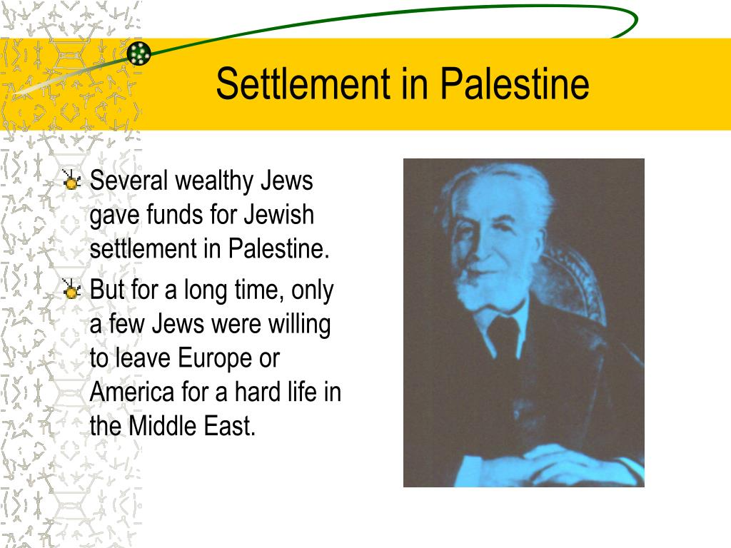 Settlement in Palestine