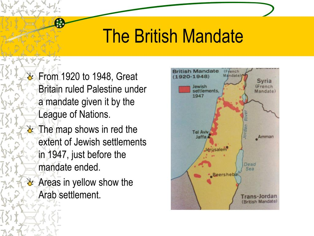 The British Mandate