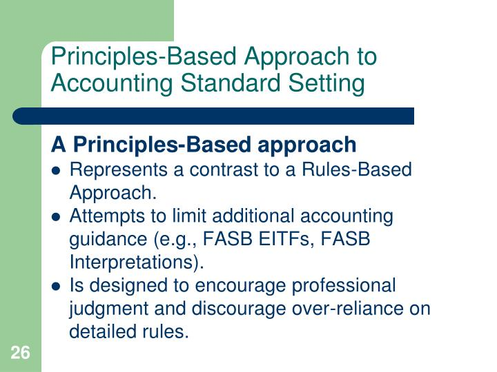 rule base and principle base accounting