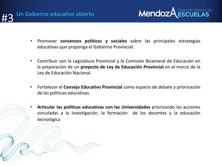 Un Gobierno educativo abierto
