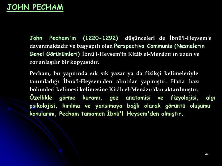 JOHN PECHAM