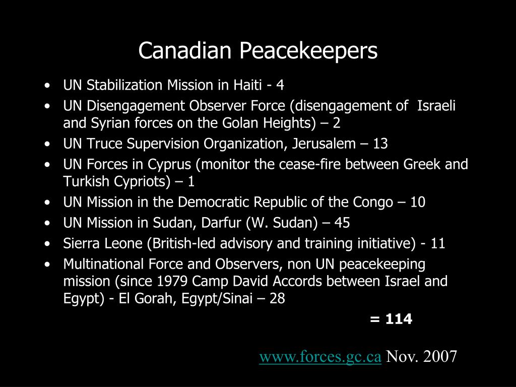 Canadian Peacekeepers