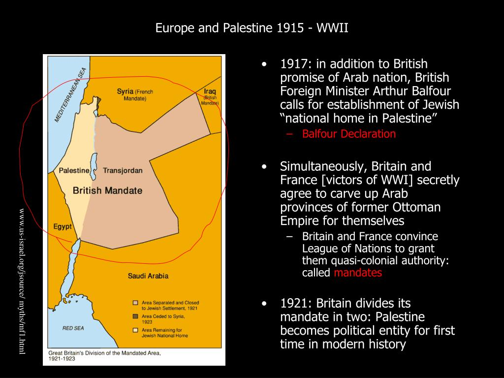 Europe and Palestine 1915 - WWII