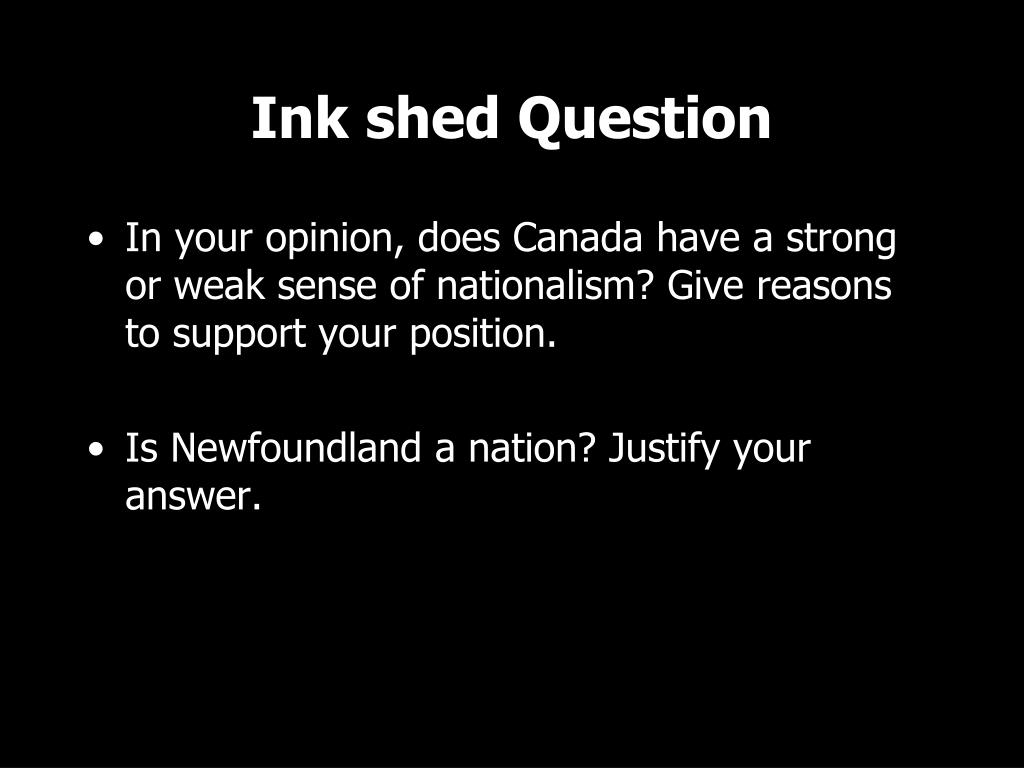 Ink shed Question