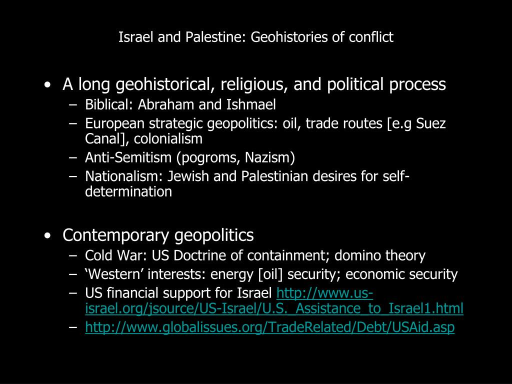 Israel and Palestine: Geohistories of conflict