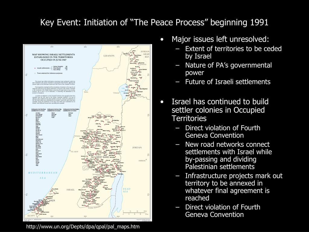 "Key Event: Initiation of ""The Peace Process"" beginning 1991"