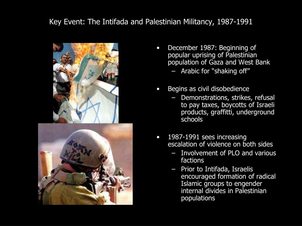 Key Event: The Intifada and Palestinian Militancy, 1987-1991