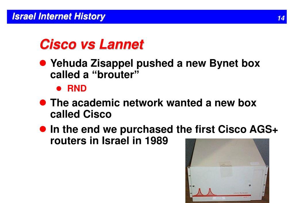 Cisco vs Lannet