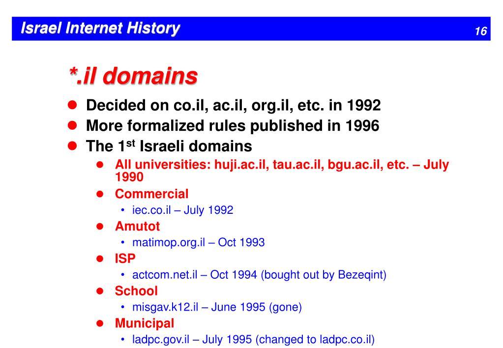 *.il domains
