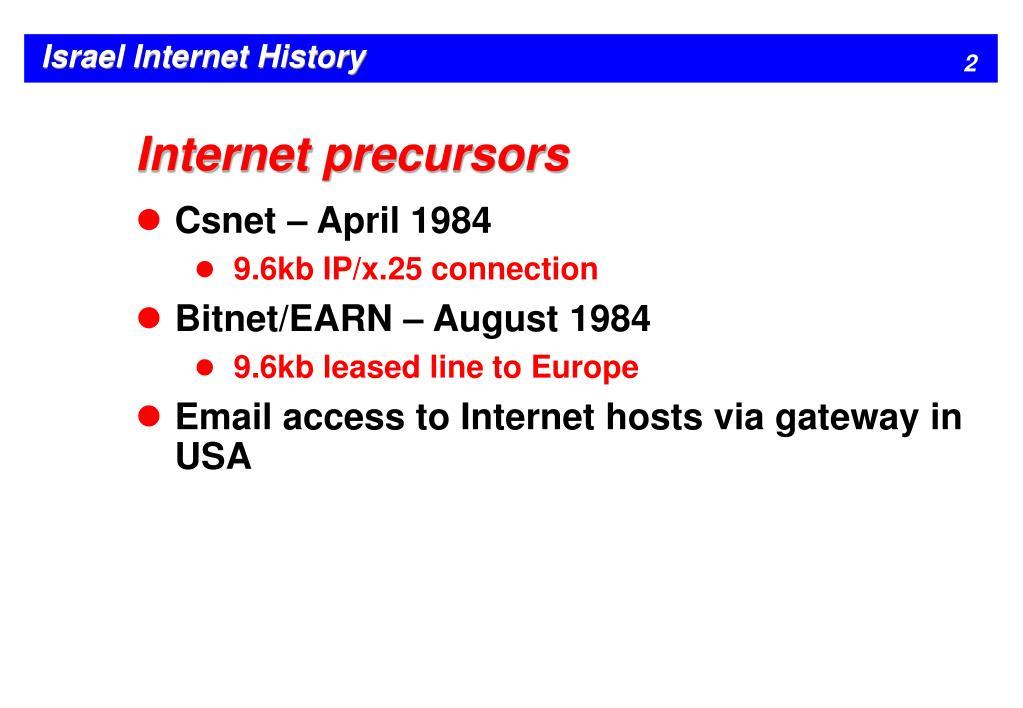 Internet precursors