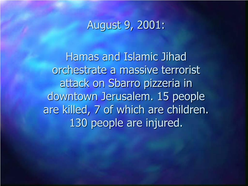 August 9, 2001:
