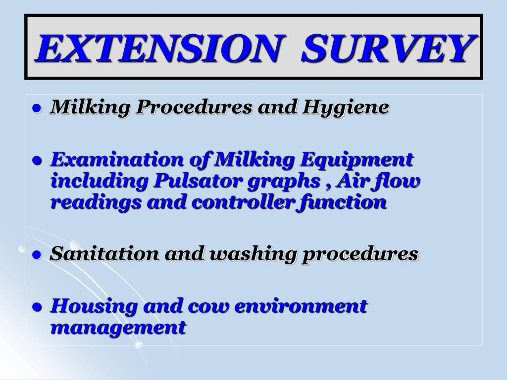 EXTENSION  SURVEY