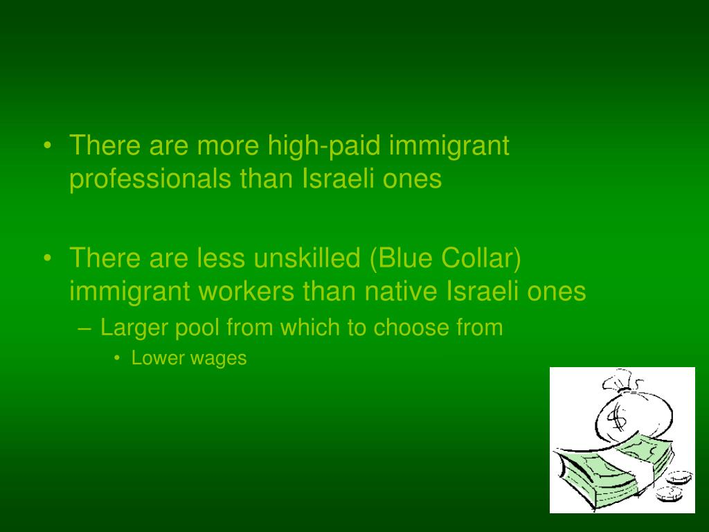 There are more high-paid immigrant professionals than Israeli ones