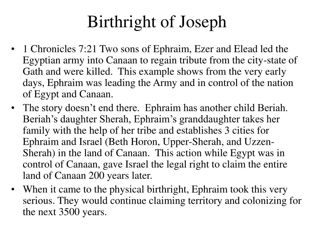 Birthright of Joseph