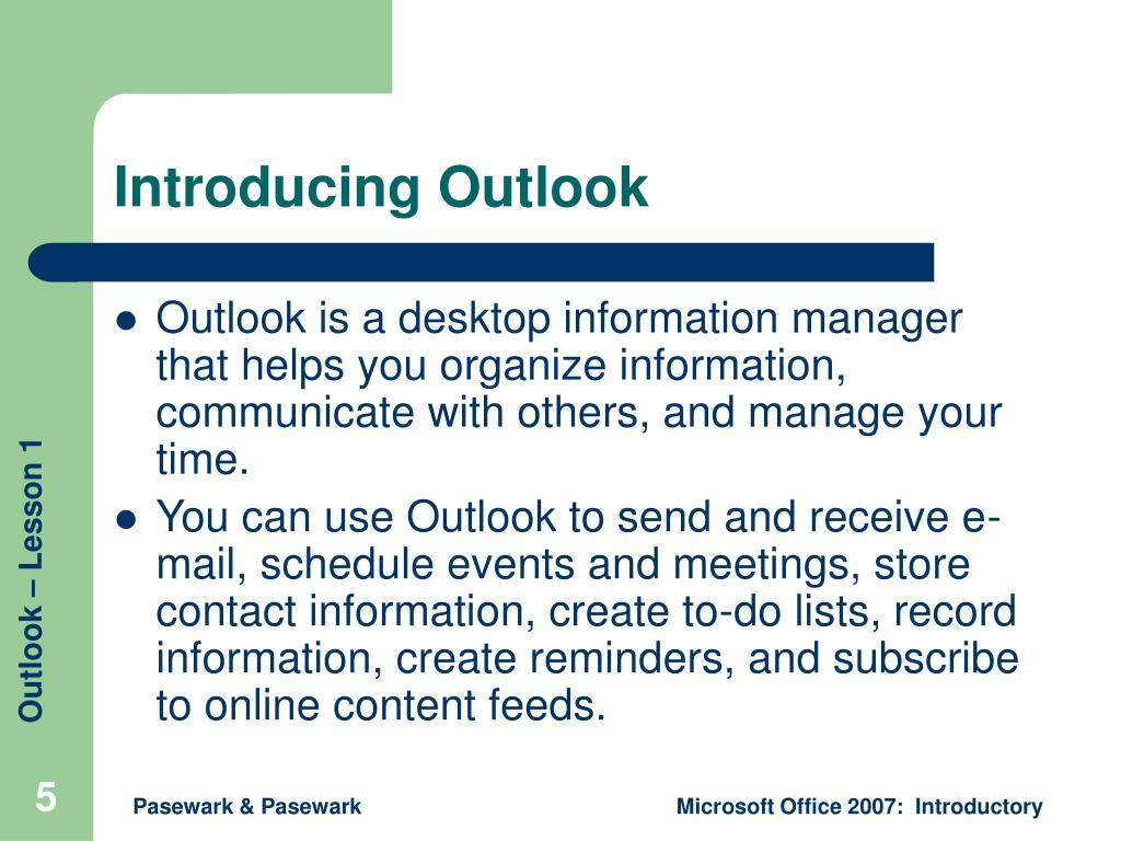Introducing Outlook