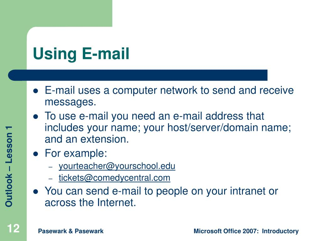 Using E-mail
