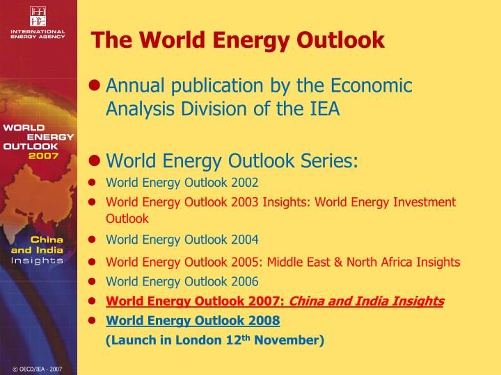 The world energy outlook