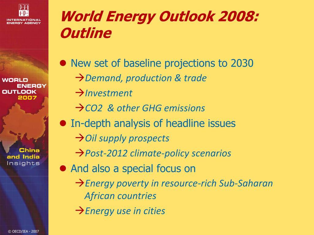 World Energy Outlook 2008: