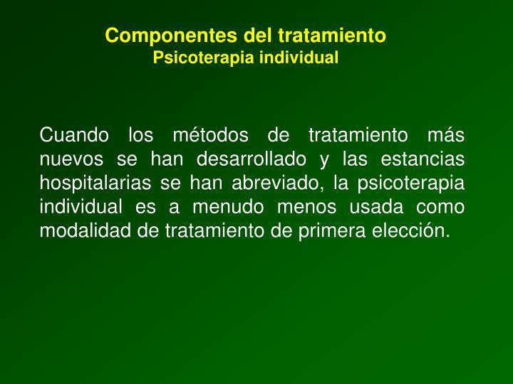Componentes del tratamiento