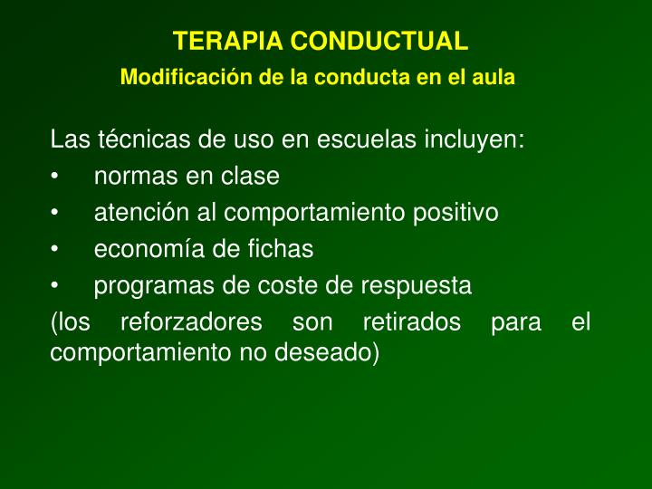 TERAPIA CONDUCTUAL