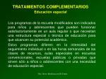 tratamientos complementarios educaci n especial