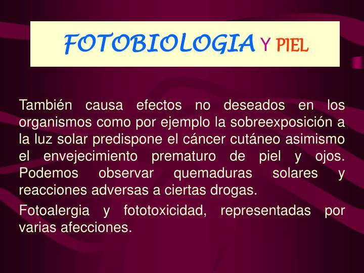 FOTOBIOLOGIA