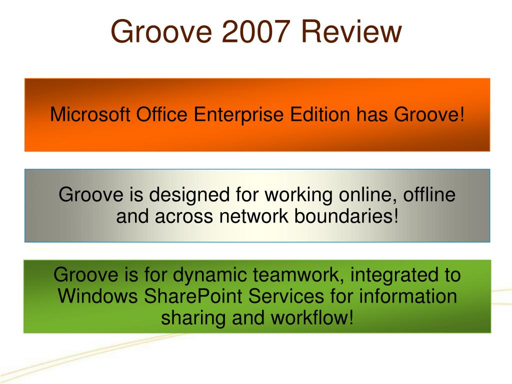 Groove 2007 Review
