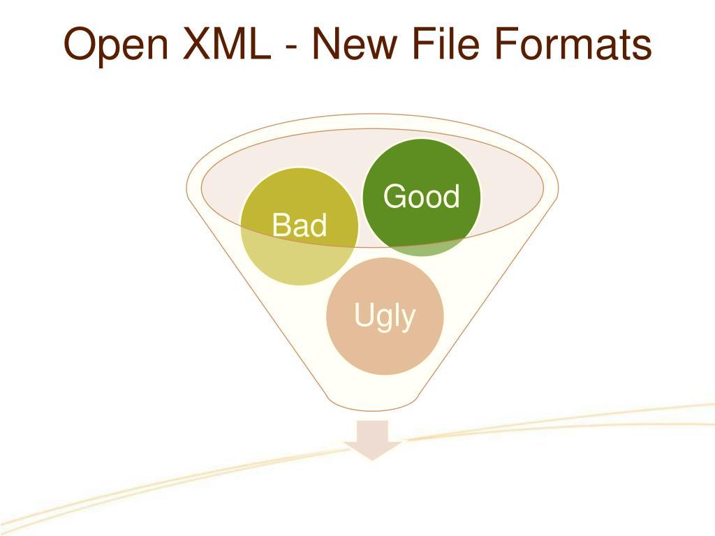 Open XML - New File Formats