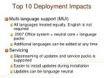 top 10 deployment impacts20
