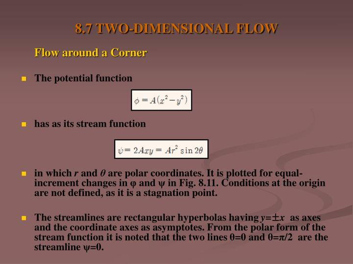 8.7 TWO-DIMENSIONAL FLOW