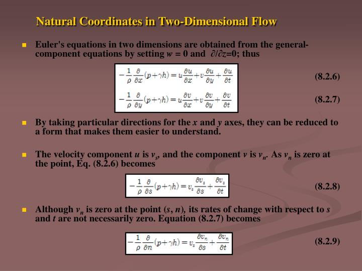 Natural Coordinates in Two-Dimensional Flow