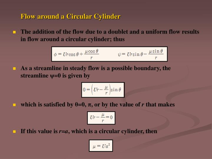 Flow around a Circular Cylinder