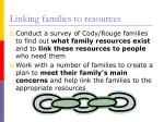 linking families to resources