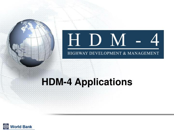 Hdm 4 applications