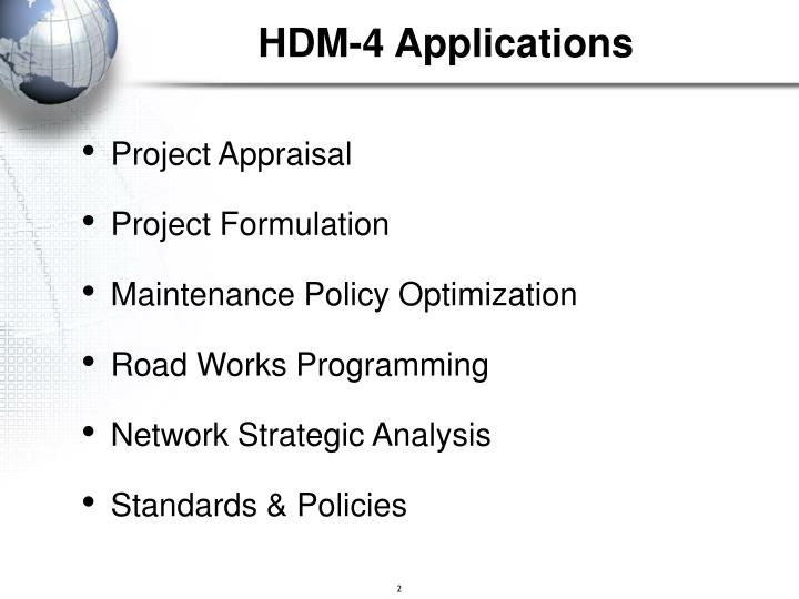 Hdm 4 applications1