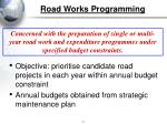 road works programming
