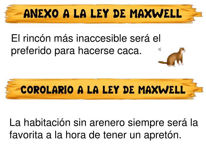 ANEXO A LA LEY DE MAXWELL