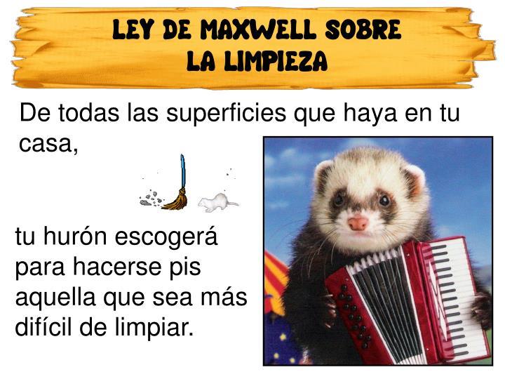 LEY DE MAXWELL SOBRE