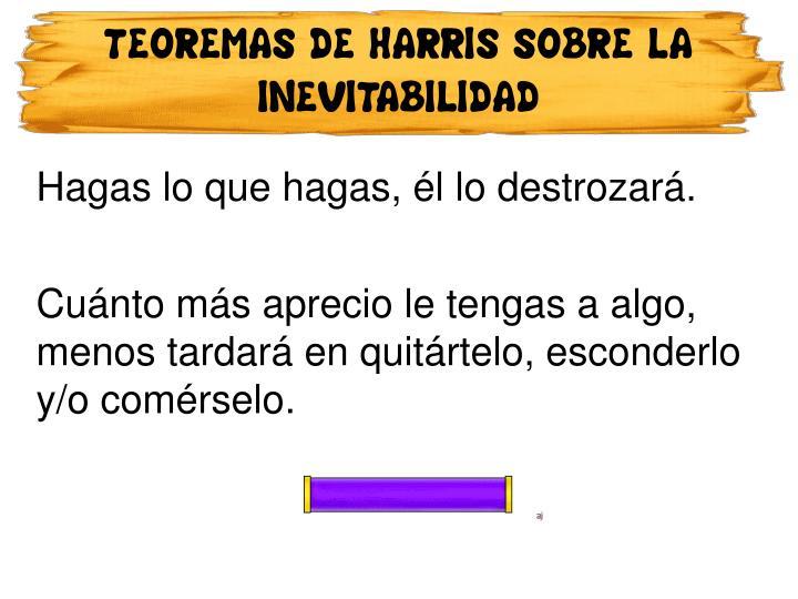 TEOREMAS DE HARRIS SOBRE LA INEVITABILIDAD