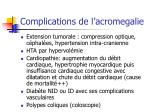 complications de l acromegalie