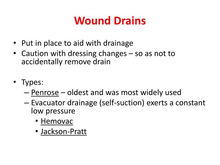 Wound Drains