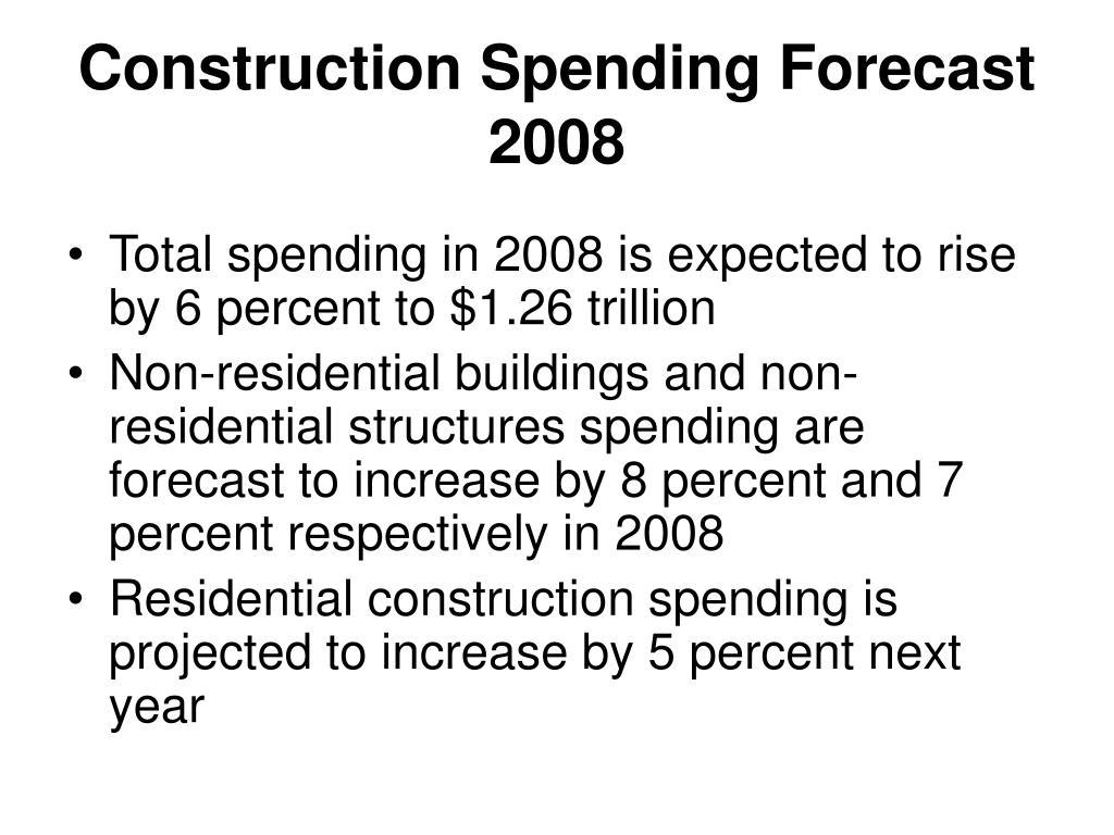 Construction Spending Forecast
