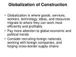 globalization of construction