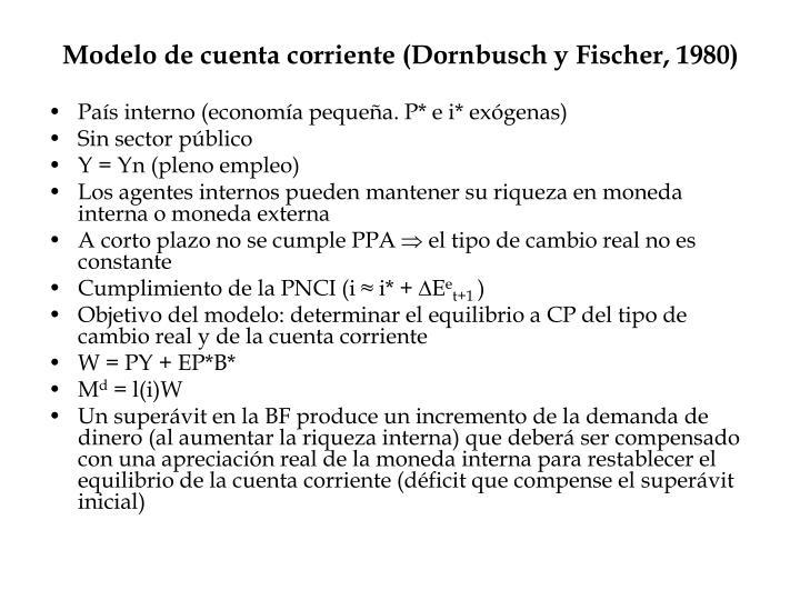 Modelo de cuenta corriente (Dornbusch y Fischer, 1980)