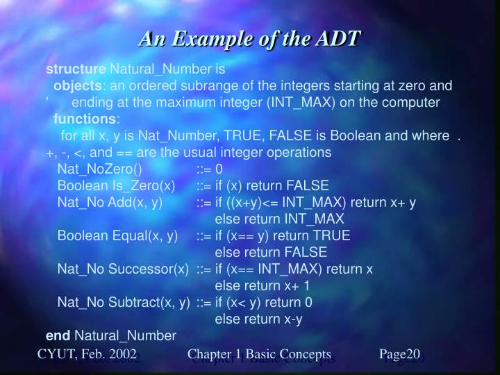 An Example of the ADT